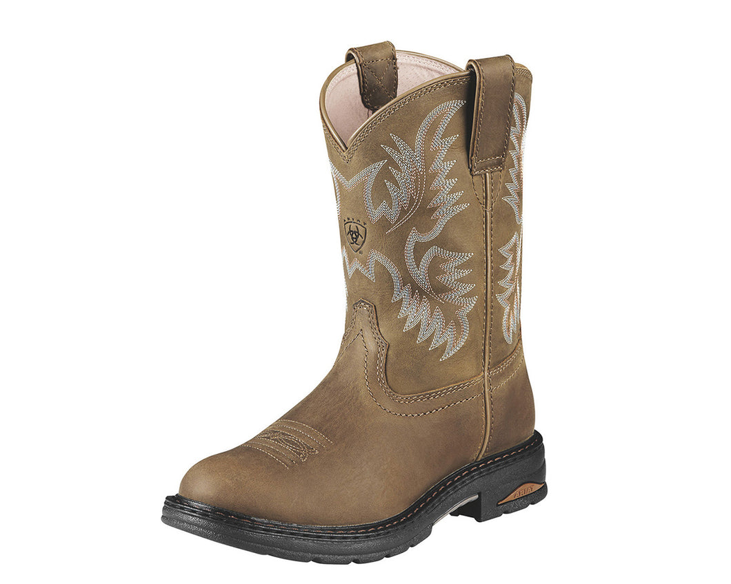 Women's Ariat Tracey Composite Toe Work Boot in Dusted Brown from the front
