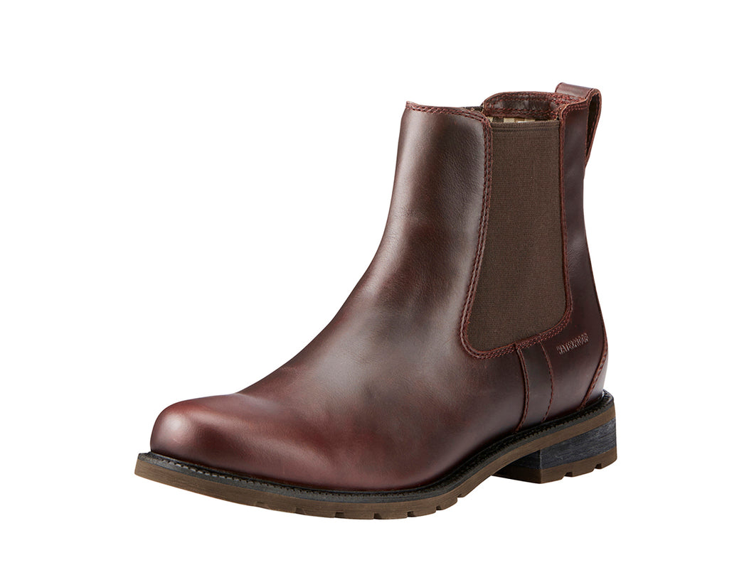 Women's Ariat Wexford Waterproof Country Boot in Cordovan from the front
