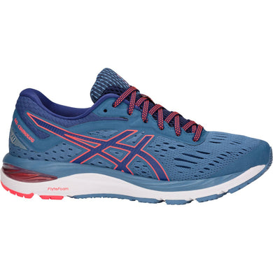 Women's Asics Gel-Cumulus 20 D Running Shoe in Azure/Blue Print