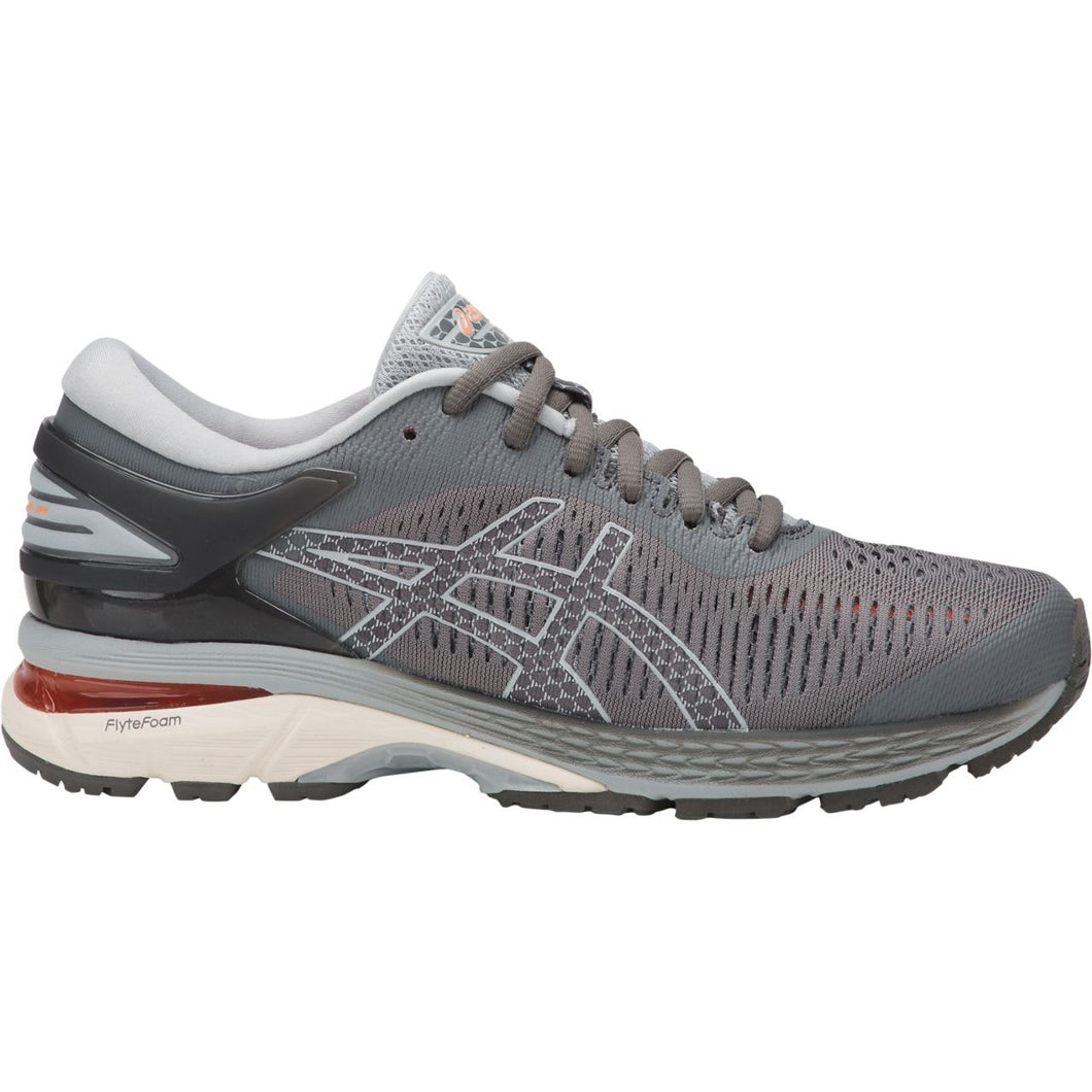 Women's Asics Gel-Kayano 25 D Running Shoe in Carbon/Mid Grey