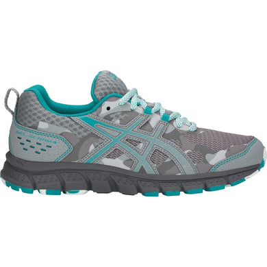 Women's Asics Gel-Scram 4 Running Shoe in Mid Grey/Lagoon