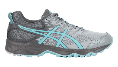 Women's Asics Gel-Sonoma 3 D Running Shoe in Midgrey/Aqua Splash/Carbon
