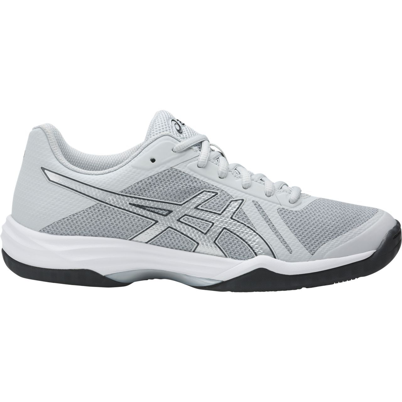 Women's Asics Gel-Tactic 2 Volleyball Shoe in Glacier Grey/Silver/Dark Grey