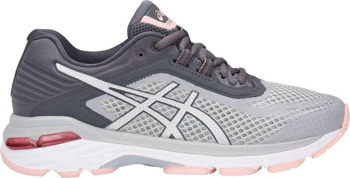 Women's Asics Gt-2000 6 Running Shoe in Mid Grey/Silver/Carbon
