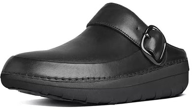Women's FitFlop Gogh Pro Superlight Clog in Black Side Angle View