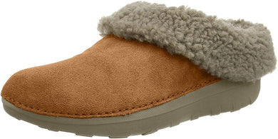 Women's FitFlop Loaff Snug Slipper in Chestnut Side Angle View