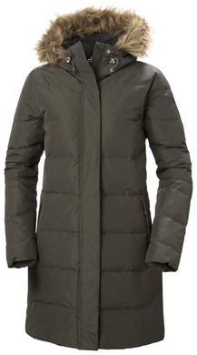 Helly Hansen Women's Aden Down Parka Jacket in Beluga from the front