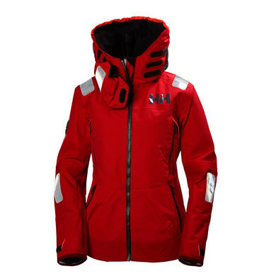 Helly Hansen Women's Aegir Race Jacket in Alert Red from the front