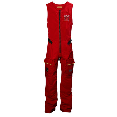 Helly Hansen Women's Aegir Race Salopette Sailing Pant in Alert Red from the front