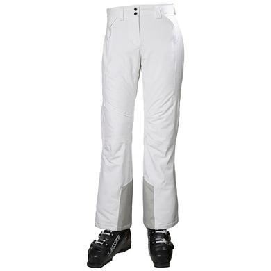 Helly Hansen Women's Alphelia Ski Pant in White from the front