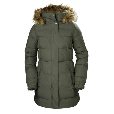 Helly Hansen Women's Blume Puffy Parka Jacket in Beluga from the front