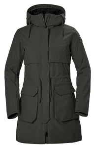Helly Hansen Women's Boyne Parka Jacket in Beluga from the front