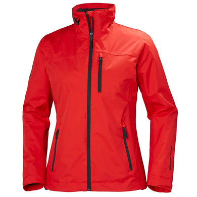 Helly Hansen Women's Crew Midlayer Jacket in Alert Red from the front