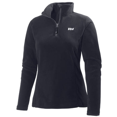 Helly Hansen Women's Daybreaker 1/2 Zip Fleece Jacket in Black from the front