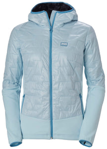 Helly Hansen Women's Lifaloft Hybrid Insulator Jacket in Ice Blue from the front
