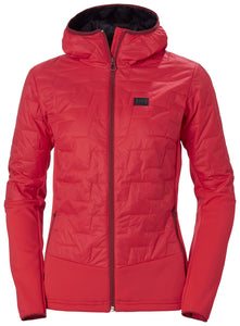 Helly Hansen Women's Lifaloft Hybrid Insulator Jacket in Raspberry from the front