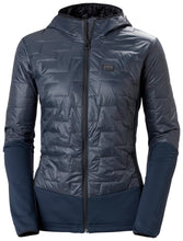 Load image into Gallery viewer, Helly Hansen Women's Lifaloft Hybrid Insulator Jacket in Slate from the front