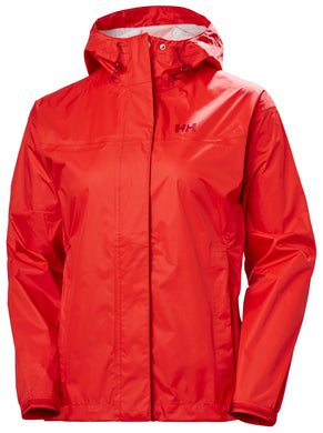 Helly Hansen Women's Loke Rain Jacket in Alert Red from the front