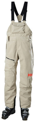 Helly Hansen Women's Powderqueen Bib Pant in Pelican from the front