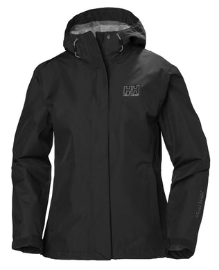 Helly Hansen Women's Seven J Rain Jacket in Black from the front