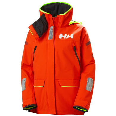 Helly Hansen Women's Skagen Offshore Jacket in Cherry Tomato from the front