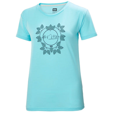 Helly Hansen Women's Skog Graphic T-Shirt in Glacier Blue from the front