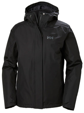 Helly Hansen Women's Squamish 2.0 CIS Rain Jacket in Black from the front