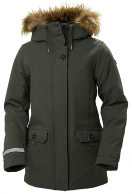 Helly Hansen Women's Svalbard 2 Parka Jacket in Beluga from the front