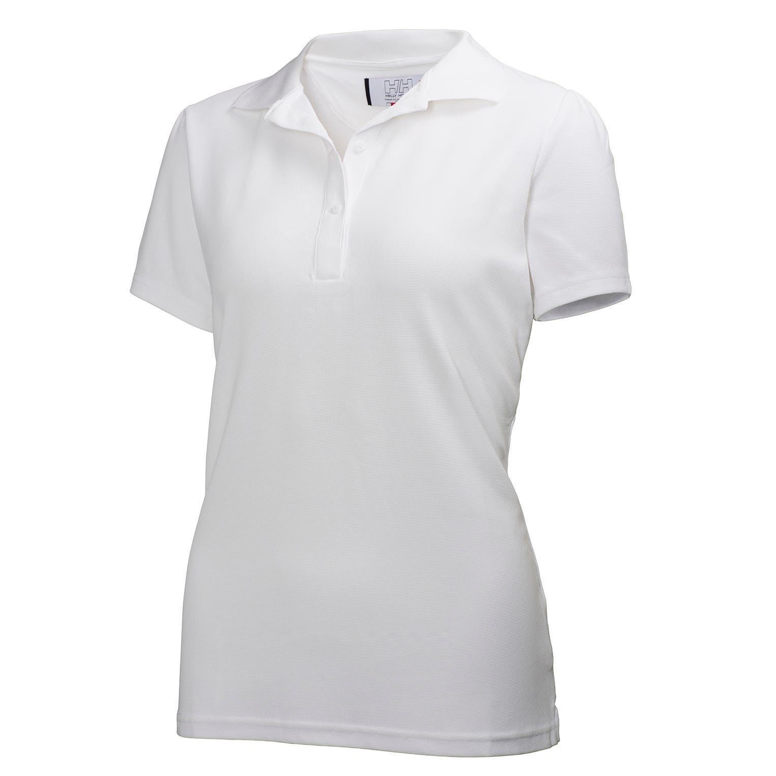 Helly Hansen Women's Tech Crew Polo in White from the front