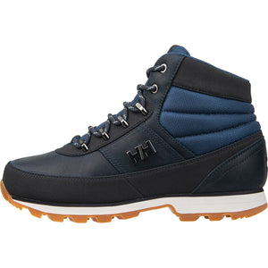 Helly Hansen Women's Woodlands Winter Boot in Navy-Vintage Indigo-O from the side