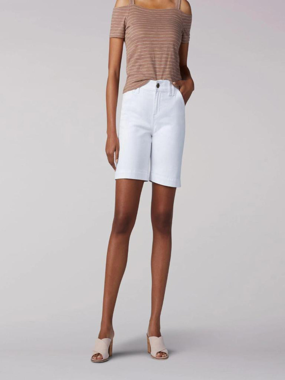 Women's Lee Flex Motion Regular Fit Walkshort in White