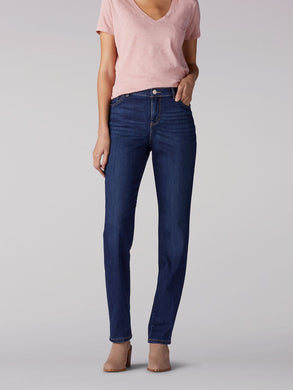 Instantly Slims Relaxed Fit Straight Leg Jean Classic Fit in Ellis from Front View