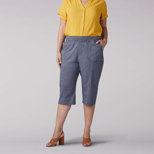 Plus Size Flex-To-Go Relaxed Fit Pull On Utility Skimmer in Dazed from Front View