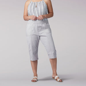 Plus Size Flex-To-Go Relaxed Fit Pull On Utility Skimmer in Palisade from Front View