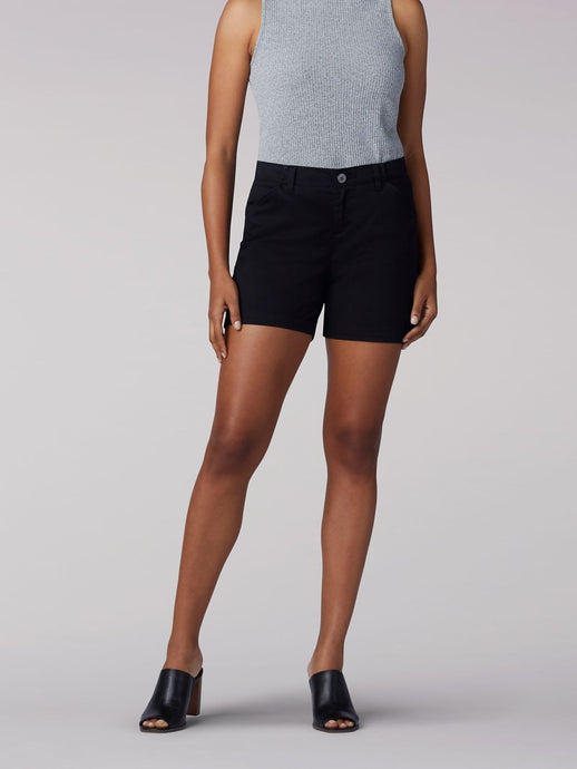 Women's Lee Regular Fit Chino Short in Black