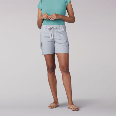 Women's Lee Regular Fit Drawstring D-Ring Cargo Short in Echo