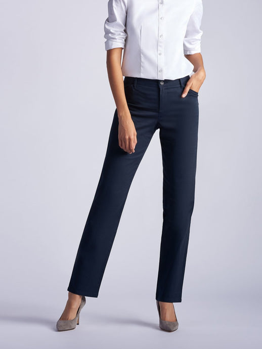 Relaxed Fit Straight Leg Pant All Day Work Pant in Imperial Blue from Front View