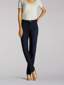 Stretch Relaxed Fit Straight Leg Jean in Niagara from Front View