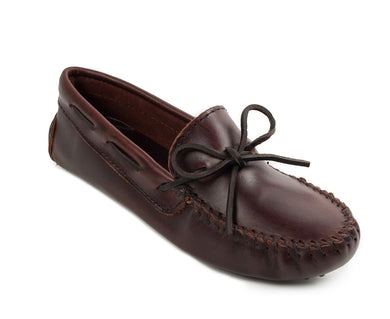 Classic Driver Moccasin in Dark Brown from 3/4 Angle View
