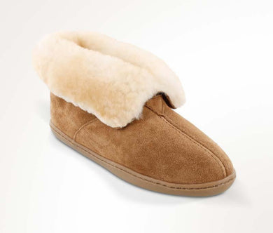 Sheepskin Ankle Boot in Tan from 3/4 Angle View