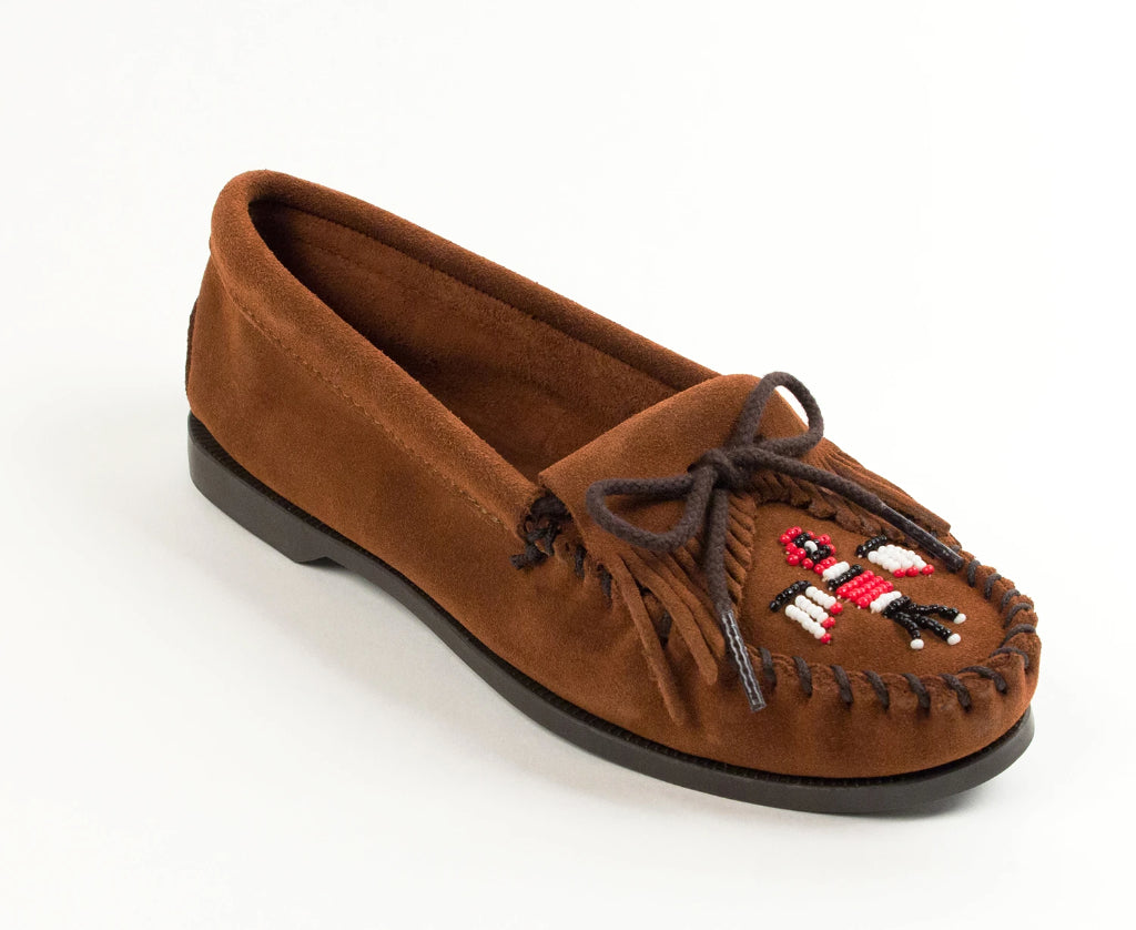 Thunderbird Boat Moccasin in Brown from 3/4 Angle View