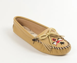 Thunderbird Softsole Moccasin in Natural from 3/4 Angle View
