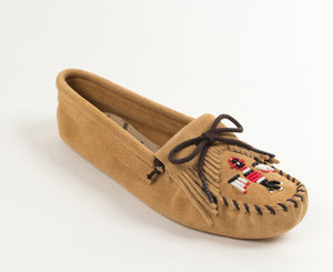 Thunderbird Softsole Moccasin in Tan from 3/4 Angle View