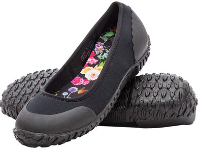 Women's Muck Boot Muckster II Flat Shoe in Black / Night Floral Print