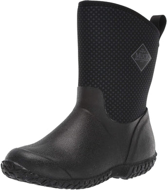 Women's Muck Boot Muckster II Mid Boot in Black / Gray / Roses Print