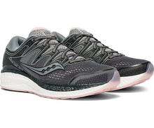 Load image into Gallery viewer, Saucony Women's Hurricane ISO 5 Running Shoe in Steel/Black from the side