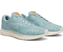 Load image into Gallery viewer, Saucony Women's Kinvara 10 Running Shoe in Aqua Shade from the side