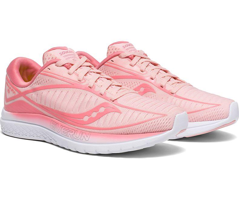 Saucony Women's Kinvara 10 Running Shoe in Rose from the side