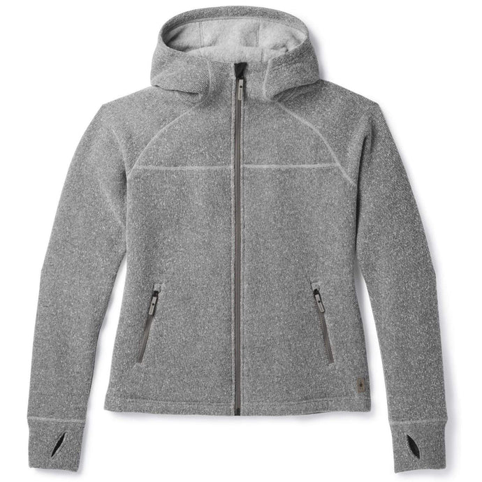 Women's Smartwool Hudson Trail Full Zip Fleece Sweater in Light Gray