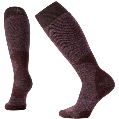 Women's Smartwool PhD Hunt Heavy Over-The-Calf Socks in Chestnut